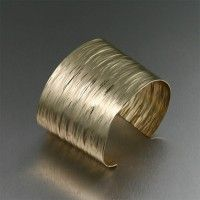 Nu-Gold Bark #Cuff #Bracelet. Too bold not to be beautiful!   http://www.johnsbrana.com/nu-gold-bark-cuff.html  $80.00