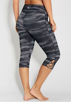 plus size patterned capri legging with openwork - maurices.com