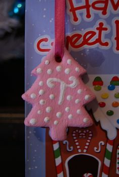 We made salt dough orniments for Taureans birthday party and used them as gift tags for the favor bags.