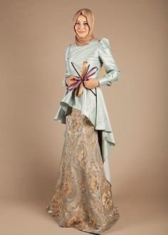hijabevening  dress, it would be lovely if it didn't have that bow