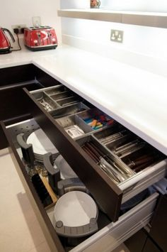 adding toekick drawers to your existing kitchen cabinets eclectic kitchen by richard landon design spacesaving ideas for kitchen pinterest
