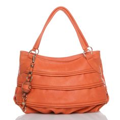 From Shoedazzle's Bag Boutique, this gorgeous pastel orange bag works great with this season's candy colors.