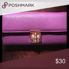 Purple Wallet Brand new, no tags Charming Charlie Accessories Key & Card Holders