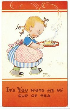 *** Cute Vintage Old A/S Postcard Valentine & Sons Mabel Lucie Attwell ***
