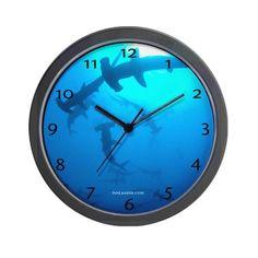 Hammerhead shark clock.