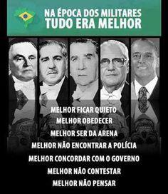 """Folha certa : Ditadura Militar: """"era tudo melhor!"""""""