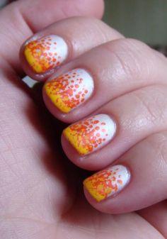 Candy Corn Ombre for Halloween #nailart #nails #naildesign #halloween #divinecaroline