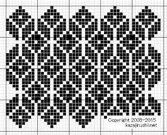 "Photo from album ""Филейные схемы"" on Yandex. Knitting Charts, Knitting Stitches, Knitting Patterns, Crochet Patterns, Cross Stitching, Cross Stitch Embroidery, Embroidery Patterns, Cross Stitch Patterns, Motif Fair Isle"