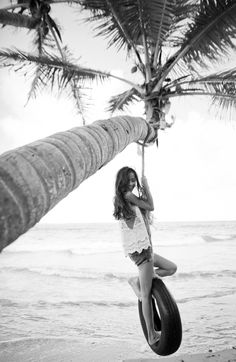 Image uploaded by Chelsea Hale. Find images and videos about girl, summer and black and white on We Heart It - the app to get lost in what you love. Swing Photography, White Photography, Photography Ideas, Tire Swings, Everything Is Awesome, Beach Babe, True Beauty, Photo Studio, Summer Time