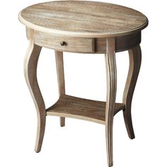 Display fresh florals or flea market finds on this warmly weathered accent table, showcasing 1 drawer and cabriole legs.  Product: Ac...