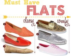 Must-Have Summer Flats by FashionableHostess.com