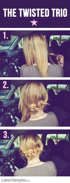 Triple threat hair attack? The Triple bun how-to Easy steps to style hair