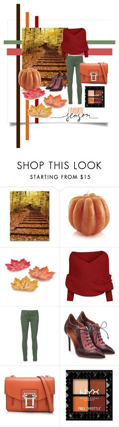 """""""Hello, Pumpkin!"""" by ritaosantos ❤ liked on Polyvore featuring Crate and Barrel, The Great, Malone Souliers and Proenza Schouler"""