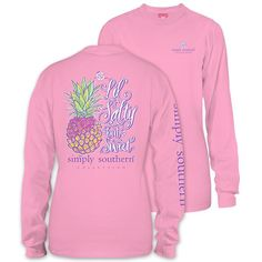 9ccb3e10 Simply Southern Preppy Lil Salty Pineapple Long Sleeve T-Shirt Available in  sizes- Adult