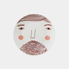 髭面ボブのプレート