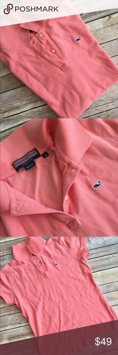 Medium Vineyard Vines Polo EUC Vineyard Vines Polo in excellent condition. Size Medium. Size up for looser fit! Salmon color Vineyard Vines Tops