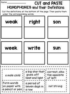 homophones worksheets worksheets sentences and definitions. Black Bedroom Furniture Sets. Home Design Ideas