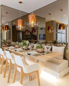 """1,253 curtidas, 14 comentários - Chris Silveira (@chrissilveiraarquiteta) no Instagram: """"Luz, tons claros e quentes! Canto do jantar! #chrissilveiraarquiteta #interiors #interiores…"""""""