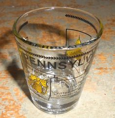 Vintage Shot Glass Pennsylvania Souvenir Shot Glass by TheBackShak