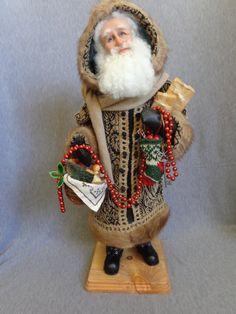 Nonna's Santas by alane - Handmade Old World Father Christmas OOAK Sculpted Santa Claus