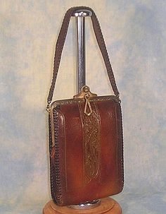 Arts and Crafts Tooled Leather Vintage Purse