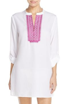 Mott 50 Embroidered Tunic Cover-Up (UPF 50) available at #Nordstrom