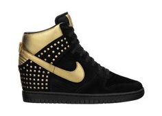 The Nike Dunk Sky Hi Studs Women's Shoe.