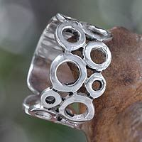 Sterling silver band ring, 'Afternoon' from @NOVICA, They help artisans succeed worldwide.