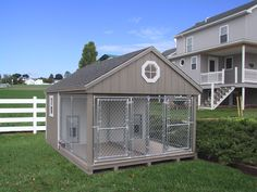 Double K-9 Dog House Kennel Run