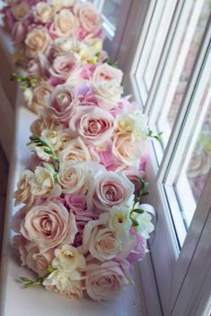 Sweet Avalanche and Peach Avalanche roses