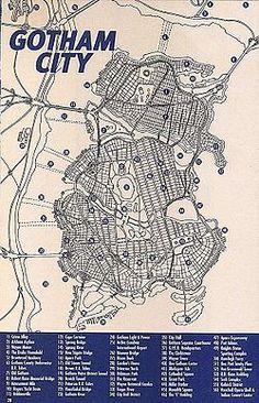 Gotham City fictional Map