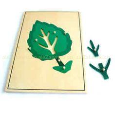 Puzzle drewniane - Duży liść - pomoce Montessori 56