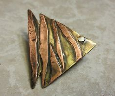 Handmade Antiqued Copper and Recycled Brass by InnerCrows on Etsy, $35.00