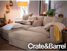 Comfy, cozy, luxurious couch! http://www.crateandbarrel.com/sale/fifteen-percent-off-upholstery/1