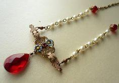 DIY Antique Brooch into Pendant Necklace