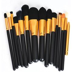 Susenstone 15Pcs Pro Makeup Brushes Cosmetic Make Up Brush Sets (black2) -- Continue to the product at the image link. (This is an affiliate link) #BrushSets