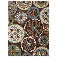 Maples Medallion Area Rug. Target. Need an area rug in the living room so badly. All wood floors are not nice for playing on the floor!! Love these colors.