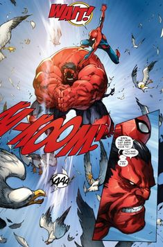 Spider-Man and Red Hulk in Avenging Spider-Man #1
