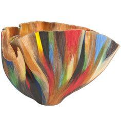 """Multiple, Multiple Chaos"" Glass Vessel by Toots Zynsky; Technique called ""filet de verre""."