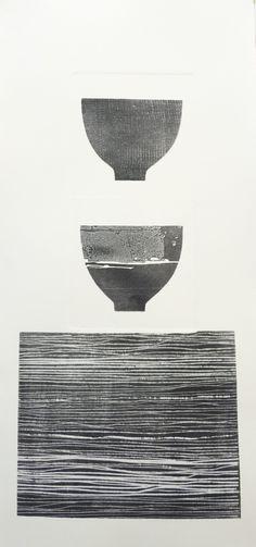 Ann Symes - Tea bowl collection - drypoint and etching Graphic Design Illustration, Illustration Art, Graphic Art, Illustrations, Invention Of Photography, Etching Prints, Ceramic Techniques, Modern Art Prints, Tea Bowls
