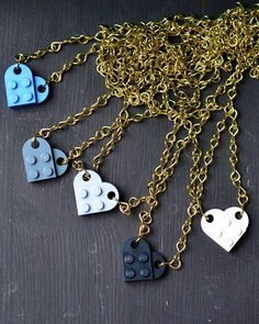 DIY: Halskette mit Herz-Anhänger aus Lego-Steinen / Lego heart brick necklace