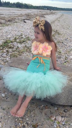 Mermaid Tutu Little Mermaid Mermaid Costume por willowlaneboutiques