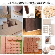 £1.79 - 5mm thick - 38 HEAVY DUTY SELF ADHESIVE FURNITURE FELT PADS WOOD LAMINATE FLOOR PROTECTOR in Home, Furniture & DIY, DIY Materials, Flooring & Tiles | eBay