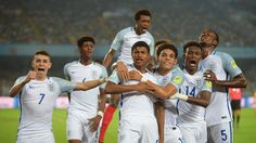October 26 2017 - Rhian Brewster nets his second hat-trick this week in 3-1 victory over Brazil to send England U17s into Saturday's FIFA U-17 World Cup final