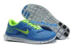 Royal Blue Volt Nike Free 4.0 V2 Men's Running Shoes