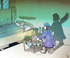 Illustrations Highlight Bravery of Healthcare Professionals During Coronavirus Pandemic Funny Tattoos, Illustration Mode, Visual Diary, Princesas Disney, Bored Panda, Iranian, Red Riding Hood, Maleficent, Art Drawings