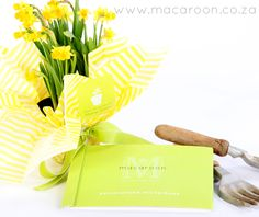 Straight from your garden - use your homegrown flowers as gifts. Transfer to a small pot then wrap with bright paper, a colourful ribbon and Macaroon's personalised Craft stickers  http://www.macaroon.co/macaroon/content/en/macaroon/stickers-craft-stickers