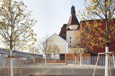 Ottakringer Brauerei - Freianlagen, Foto: Philipp Kreidl Planer, Cabin, House Styles, Building, Home, Decor, Pictures, Brewery, Decoration