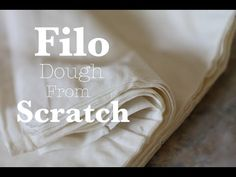 Homemade FIlo or Phyllo Dough - How to Make a Phyllo Dough Recipe from Scratch Philo Recipes, Phillo Dough Recipes, Philo Pastry, Pasta Philo, Philo Dough, Albanian Recipes, Albanian Food, Homemade Pastries, Puff Pastry Recipes