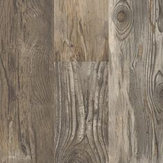 The strong rustic design of Reclaimed Wood Grey with high color variation makes for a beautiful and interesting flooring. With a rugged barn wood look, this easy, durable, do-it-yourself flooring is a Luxury Vinyl Flooring, Luxury Vinyl Tile, Vinyl Plank Flooring, Luxury Vinyl Plank, Stone Flooring, Grey Hardwood, Grey Wood, Hardwood Floors, Vinyl Tiles